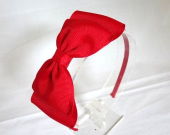 Big Red Bow Headband. Girls Hair Accessories. Red Bow Headband. Large Red Bow. Hard Headband. Adult Hair Accessories. Girls Bow Headband