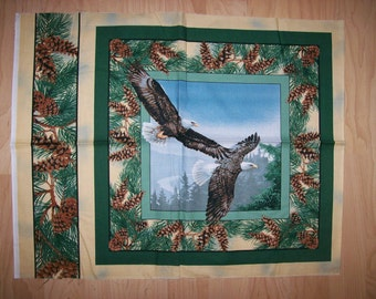 A Wonderful Wild Wings Eagles In Flight Cotton Fabric Panel Free US Shipping