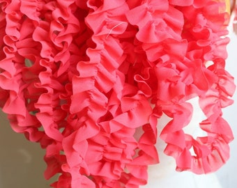 Cute  ruffled  chiffon  trim  2 yards listing