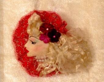 Blond Beauty Brooch