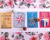 Set of (8) Assorted Cavallini Paris Postcards