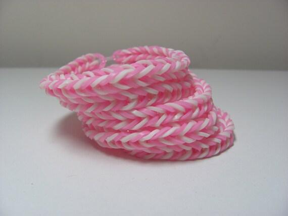 5 Rainbow Loom Rubber Band Stretch Bracelet Fish Tail Pattern