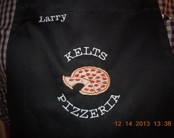 Custom Pizza Apron-your name-Perfect for the holidays