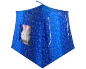 Toy Pop Up Tent, Sleeping Bags, royal blue, star print sparkling fabric