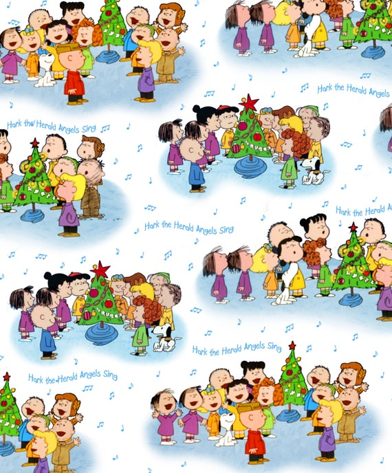 ON SALE - Quilting Treasures Peanuts Christmas Time Quilt Fabric White 1/2Y