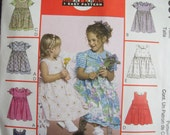 Childs EAsy Dress and Pinafore  Size 4, 5, 6  McCall 3531 Uncut