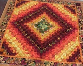 Colors of Fall Wallhanging in Shades of Red, Rust, Orange and Gold
