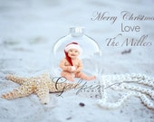 Christams On the Beach Ornament  Templete