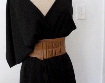 Black knit shawl top