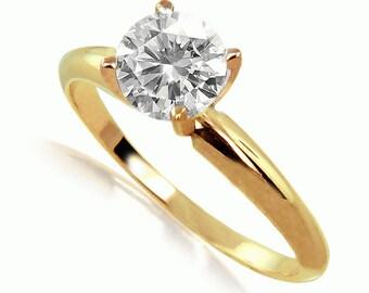 14k yellow gold diamond  ring fine gem