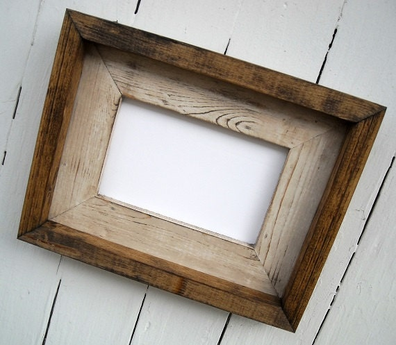 10 x 13 rustic picture frame cream rustic weathered stacked and stained rustic home