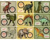 Printable DIY Personalized Dinosaur Theme Valentine Cards for kids -  ADD NAMES