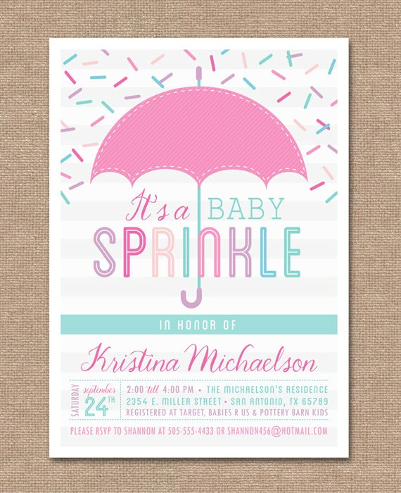 Printable baby sprinkle invitation baby shower pink baby filmwisefo