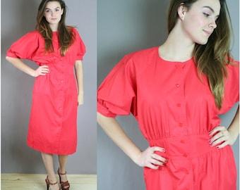 Vintage 80s Poppy Chaus Dress