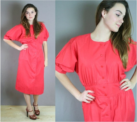 Vintage 80s Poppy Chaus Dress