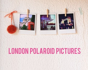 LONDON Polaroid pack pictures.
