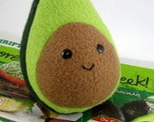 Plush Avocado Superfood Fake Food Made in Canada Fleece Plush Made to Order