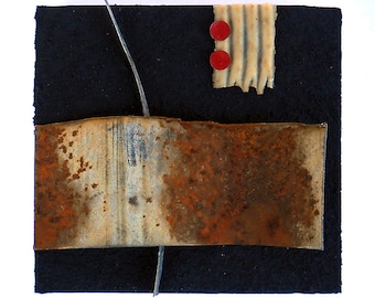 Edge: found object assemblage