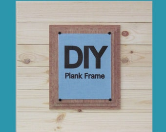 DIY PLANK FRAME X-tra Large  21x21 Cottage  Frame for 8x10
