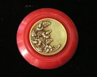 1800s Picture Button and Early 1900s Plastic Button Pin