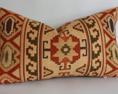 Ralph Lauren Tapestry Tribal Southwestern Pillow Cover / 12x20 Lumbar Size
