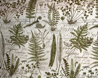 FERNS BOTANICAL designer, decorator/drapery/bedding/upholstery fabric