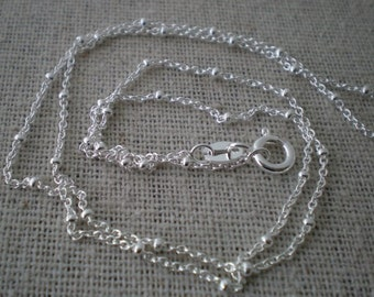 sterling silver satellite chain | build your own custom hand stamped necklace | finished chain