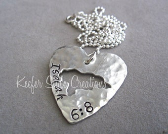 Honduras Hand Stamped Heart Necklace