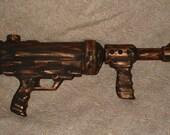 SALE 15 Dollars was 30 Dollars Large Steampunk Gun Gold Tone and Black