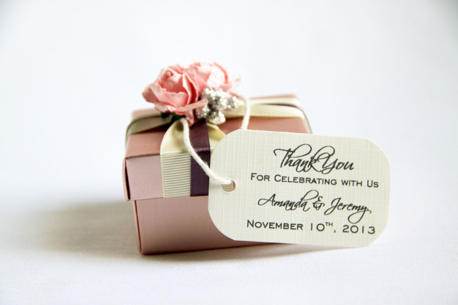 125 Mini Wedding Favor Gift Tags Sophisticated Thank You