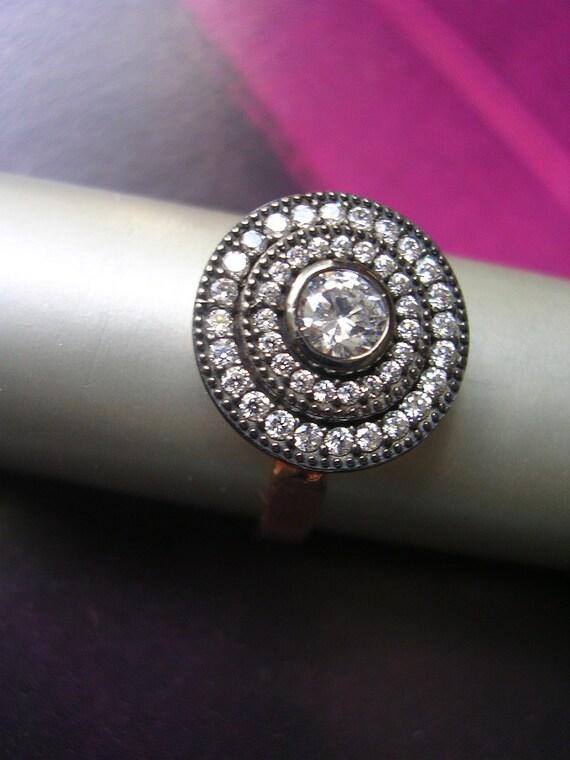 Hollywood era inspired ring sparkly chic diamond inspired look elegant dressy