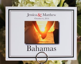 Wedding Table Name Number with Custom Customize Photo Pic Pictures Color Guest Table