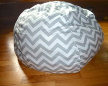 Grey & White Chevron Bean Bag Chair Cover, Silver, Gray, Red, Yellow, Blue, Black, Pink, Orange, Zig Zag, Stripes, Etsy Kids, Gift Under 75