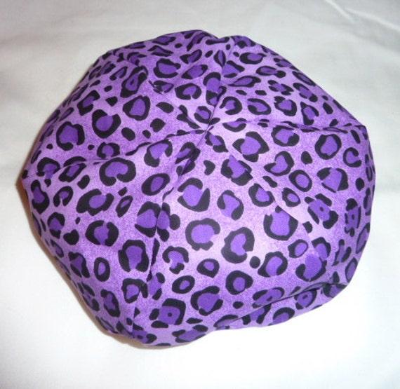 American Girl Doll Bean Bag Chair Deep Purple Leopard Print
