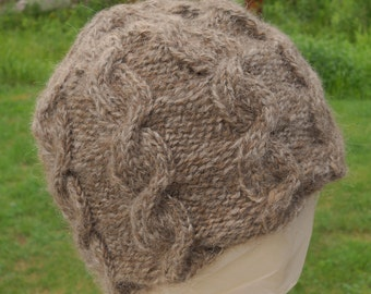 Adult Brown Cable Hat