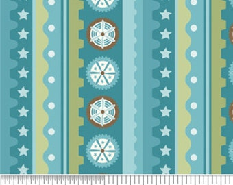 Mod Tod Blue Stripe by Sherri Berry Designs for Riley Blake, 1/2 yard