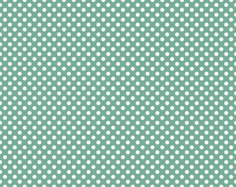 Verona Teal Dots by Emily Taylor Design for Riley Blake, 1/2 yard
