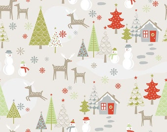 A Merry Little Christmas Main Taupe by Zoe Pearn for Riley Blake, 1/2 yard