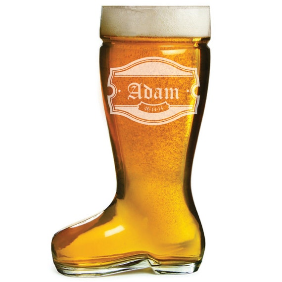Custom Engraved 1 Liter Beer Boot