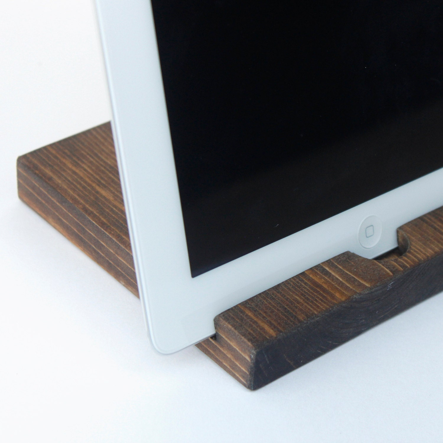 Wooden IPad Stand By Whitneyraepaper On Etsy. Full resolution‎  portrait, nominally Width 1500 Height 1500 pixels, portrait with #456A86.