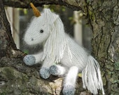 Snow White the Unicorn and her baby Liliana PDF Knitting Pattern
