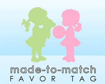 Made-to-Match Favor Tag . Digital File - to coordinate with SSC Card Design