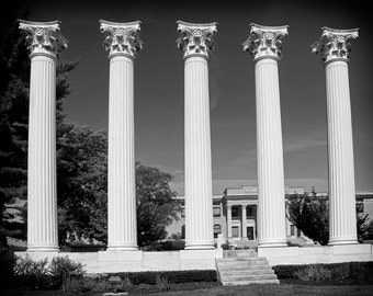 Columns at Westminster College in Fulton, Missouri - Fine Art Photograph 5x7 8x10 11x14 16x20 24x30