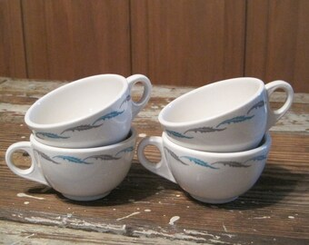 Four Homer Laughlin Restaurant Ware Cups