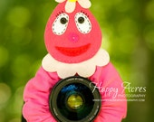Lens Bling -Foofa from Yo Gabba Gabba- Ready to Ship