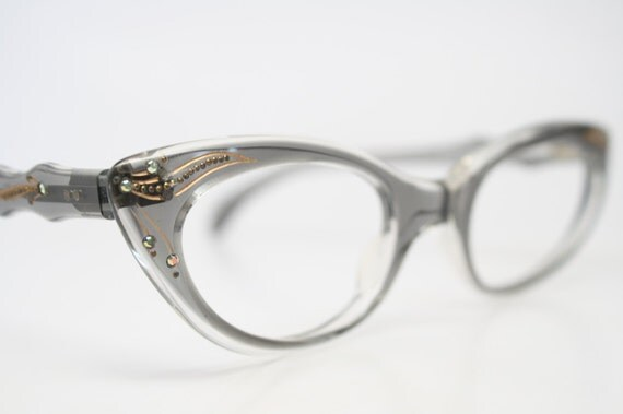 Rhinestone Cat Eye Glasses Cateye Eyeglasses by ...