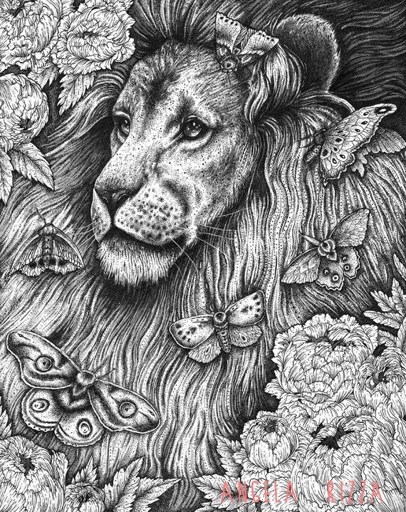 Items similar to Nocturnal Original Drawing on Etsy