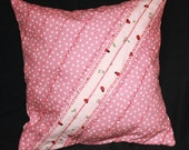 Girl's Room Decorator Pillow White Dots on Pink