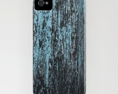 Barn Wood Case - Blue Grey Rustic Abstract Painting - Designer iPhone Samsung Case