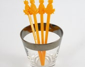 Set of 4 Pineapple Swizzle Sticks